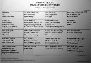 Bullshit Bingo ©Inklusionsfakten.de
